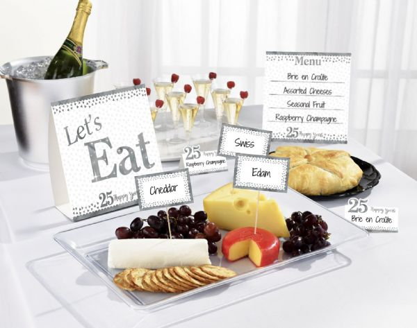 Sparkling Silver Anniversary Buffet Kit